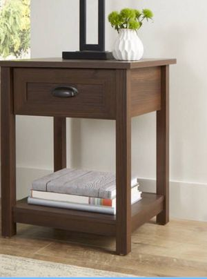 New!! Night stand, nightstand, side table, end talbe, living room furniture, solid wood 1 drawer nightstand , organizer, storage unit, entrance furn for Sale in Phoenix, AZ