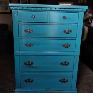 Turquoise Tall Dresser for Sale in Oregon City, OR