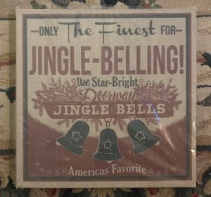 Christmas vintage style burlap on canvas 15 x 15 NEW for Sale in Tempe, AZ