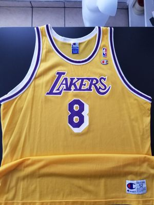 Vintage Authentic Champion Kobe Bryant 8 Rookie Jersey Rare Limited Size 52 2XL for Sale in Los Angeles, CA