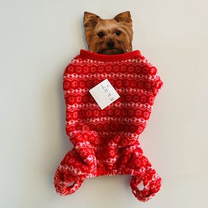 XSmall Dog Cat Sweater Fleece Red w Buttons for Sale in North Aurora, IL
