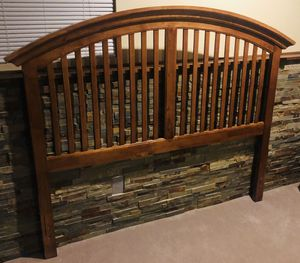 Queen Headboard with Matching Dresser & Metal bed frame for Sale in Littleton, CO