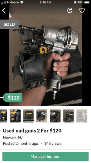 Used nail guns 2 For $120 for Sale in Newark, NJ