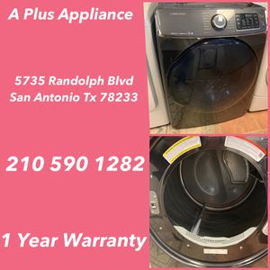 Samsung Front Load Dryer 1 Year Warranty for Sale in San Antonio, TX