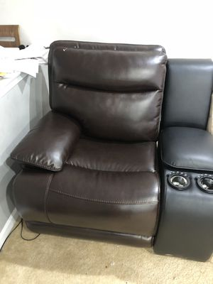 Brand new recliner chair with console cup holders and hidden storage for sale for Sale in Ashburn, VA