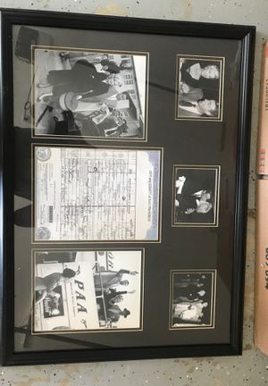 Marylin Monroe marriage papers and poster for Sale in Encinitas, CA