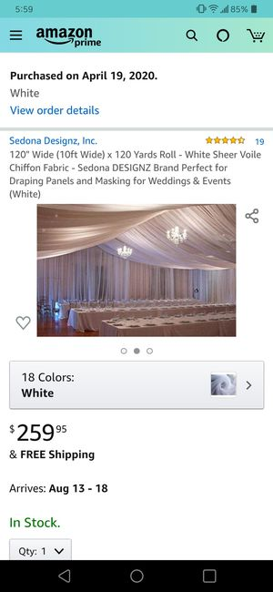 120 yds white sheer voile chiffon draping fabric for Sale in Gresham, OR