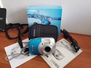 Canon Powershot D10 underwater camera + accessories & Sony case - like new! for Sale in Los Angeles, CA