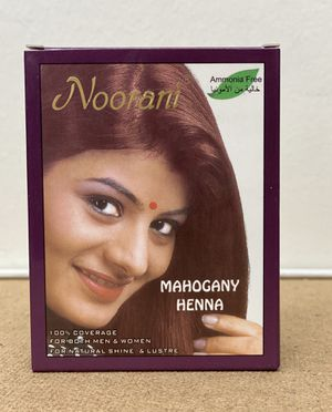 NOORANI HENNA MAHOGANY 6 POUCHES X 10g NATURAL HAIR COLOR for Sale in San Gabriel, CA