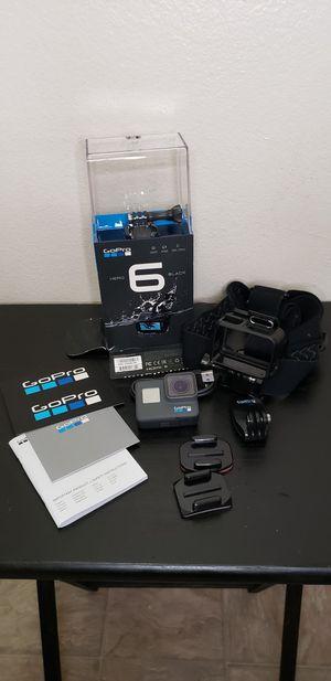 GoPro Hero 6 Black Waterproof Digital Action Camera w/Head Strap for Sale in Los Angeles, CA