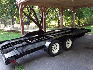 18 ft car trailer. new tires..winch...new paint for Sale in Williamsport, MD