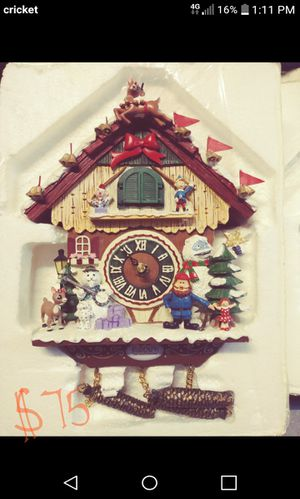 Rudolph Cuckoo Clock for Sale in Lakeland, FL