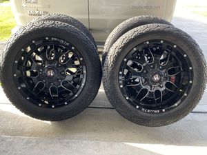 Rims and tires 20x12 5lugs tundra dodge Jeep for Sale in Houston, TX