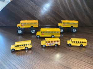 Kids toys/ cars 6 school busses for Sale in Henderson, NV