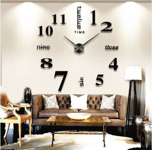 DIY Wall Clock Modern Design Home Decorative Wall Sticker Clock 3D Frameless (Large) for Sale in South Plainfield, NJ