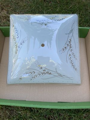 Antique light fixture - Glass light cover 11.5X11.5 square for Sale in Portland, OR