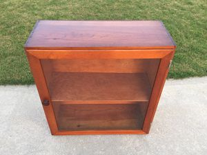 Vintage wood cabinet with glass door. for Sale for sale  Dallas, GA