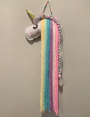 Unicorn hair clip/bow holder (see photos for other color options) for Sale in Carson, CA
