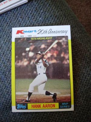 Topps hank arron 1982 baseball card for Sale in York, PA