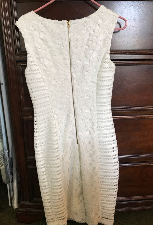 Cream White Calvin Klein Dress in a Size 4