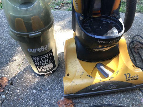 Eureka vacuum Air speed gold with Hepa filter