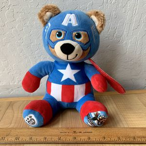 "Build-A-Bear Workshop Marvel Captain America Bear 8"" Plush BAB Stuffed Animal Toy for Sale in Elizabethtown, PA"