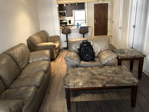 Couch, Love Seat, Chair, Coffee Table & Two End Tables for Sale in Washington, DC