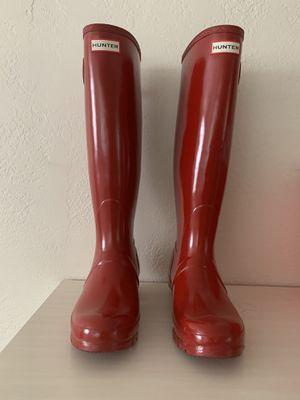 Women's Red Hunter Rain Boots, size 8 for Sale in Seminole, FL