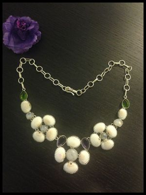Brand New Sterling Silver, Amethyst, Moonstone, Peridot Statement Necklace for Sale in Oakland, CA