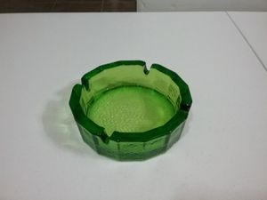 Green glass ashtray for Sale in Glendale, AZ