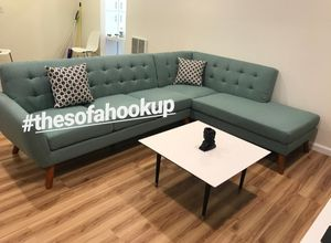 Yes We Finance 😁 On Display - Laguna L Shape Couch Sofa Sectional Mid Century Style for Sale in Los Angeles, CA