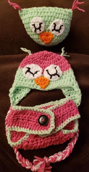 Crochet owl baby set for Sale in Parma, OH