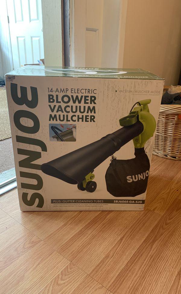 Sun Joe 4-in-1 Electric Leaf Blower, Mulched, Vacuum & Gutter Cleaner $90 OBO