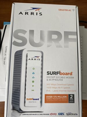 Arris SURFboard SBG6700-AC Wireless Router - Cable Modem - 1.6 Gbps - 2.4 GHz / 5 GHz - Gigabit Ethernet - 802.11a for Sale in Frisco, TX