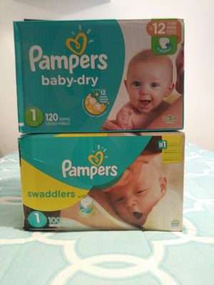 Pampers new box size 1 for Sale in West Valley City, UT