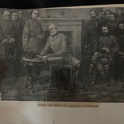 The old old time picture of General Lee signing the conditions of surrender for Sale in Council Bluffs,  IA