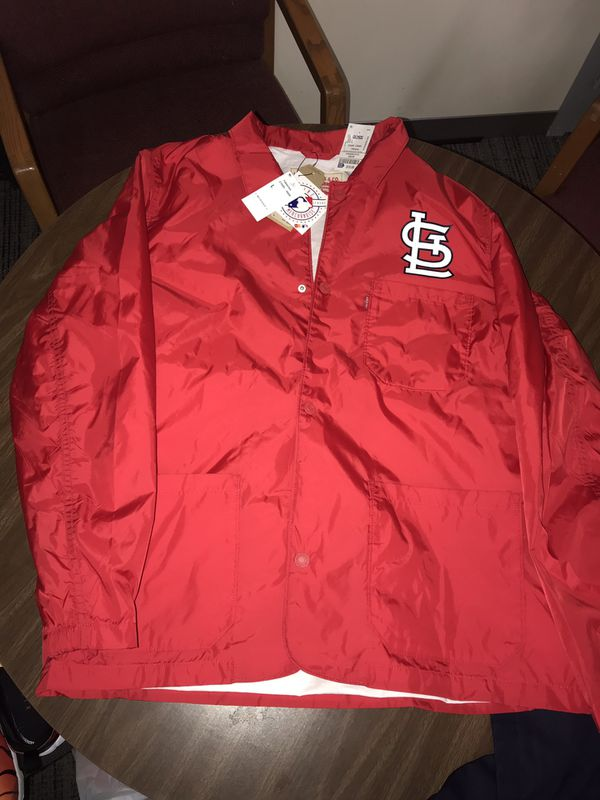 Levi's St. Louis Cardinals Windbreaker Jacket. Size:L