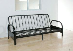 Acne furniture Alfonso black futon frame metal like new!! for Sale in Tacoma, WA