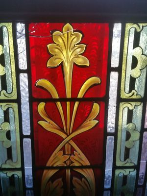 Circa 1890 Antique Stained Glass Church Window for Sale in Los Angeles, CA