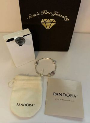 Authentic Pandora bracelet with charms for Sale in Rockville, MD