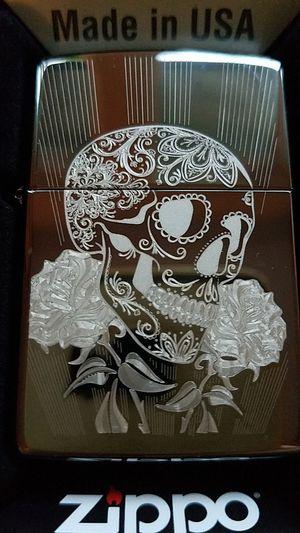 Zippo fancy skull design black ice 29883 for Sale in Los Angeles, CA