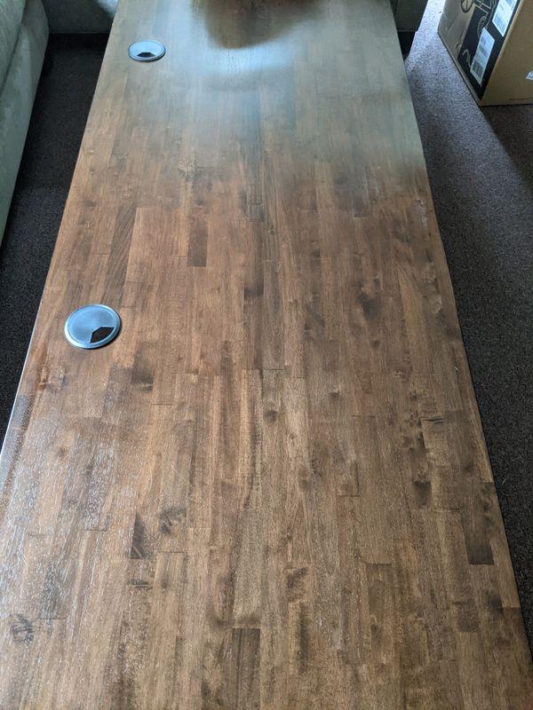 """UPLIFT Desk Rubberwood Desktop 80"""" x 30"""""""