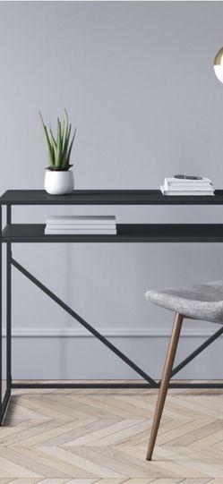 Desk Whit Storage .black for Sale in Las Vegas,  NV