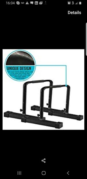 Perfect PushUps Parallette Bars - Non-Slip Adjustable Calisthenics Equipment for Bodyweight Exercises for Sale in Queens, NY