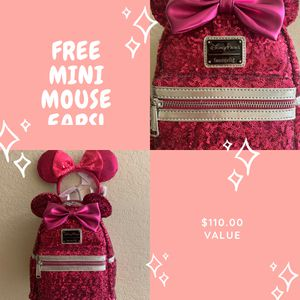 Disney loungefly imagination pink Minnie Mouse backpack for Sale in Ontario, CA