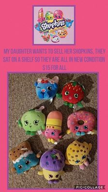 Shopkins plush set for Sale in Lowell, MA