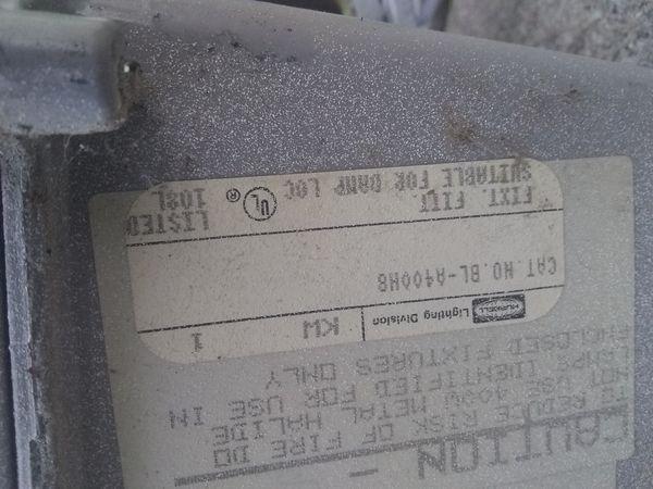 Hubbell BL-A400 Light fixtures 400watt