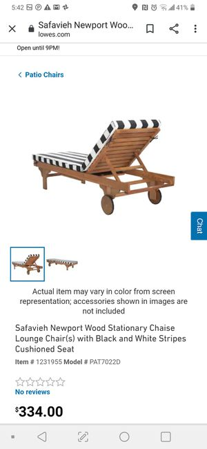 Outdoor Pool Porch Lounge Chair Safavieh for Sale in St. Petersburg, FL