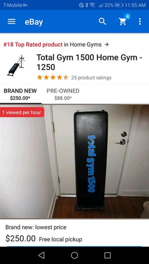 Total Gym 1500 exercise equipment for Sale in Miramar, FL