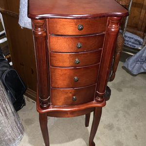 Gorgeous vintage Cherry jewelry Cabinet for Sale in Bowie, MD